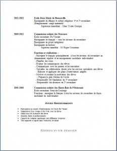 Exemple de CV #606 Enseignante au secondaire page 2