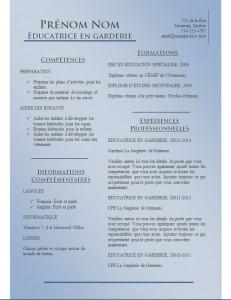 Exemple de CV #780