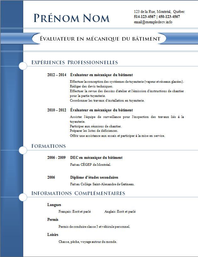 mod u00e8les et exemples de cv  803  u00e0 809  u2013 exemple de cv  info